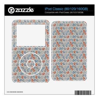 Ocean Swirls Linen Look iPod Skin