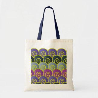 Ocean Swirls Purplish Bag