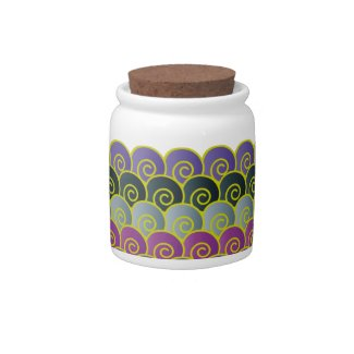 Ocean Swirls Purplish Candy Jars