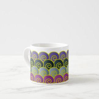 Ocean Swirls Purplish Expresso Mug