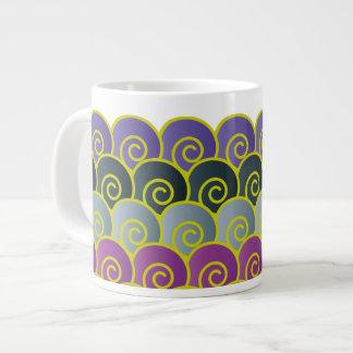 Ocean Swirls Purplish Jumbo Mug