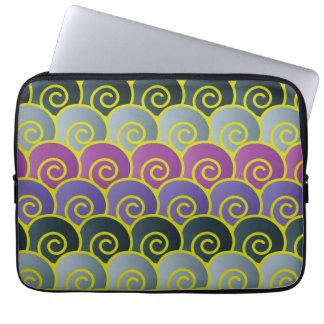 Ocean Swirls Purplish Laptop Sleeve