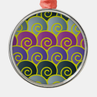 Ocean Swirls Purplish Premium Round Ornament