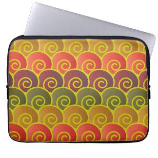 Ocean Swirls Reddish Laptop Sleeve