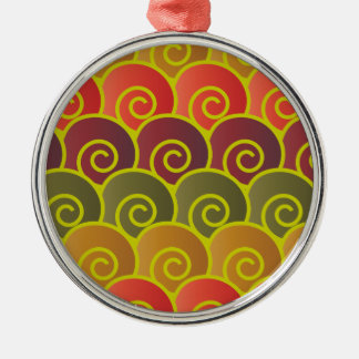 Ocean Swirls Reddish Premium Round Ornament