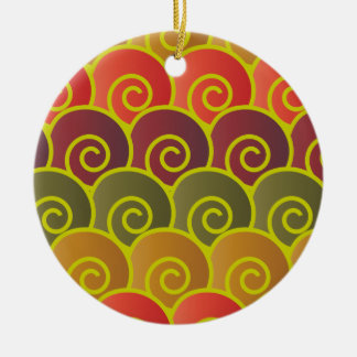 Ocean Swirls Reddish Round Ornament