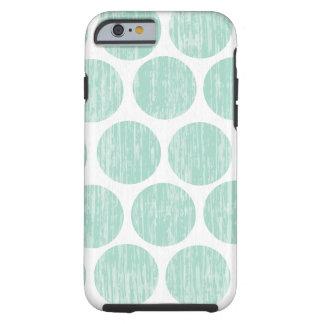 Ocean Teal Distressed Polka Dot iPhone 6 Tough iPhone 6 Case