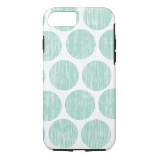 Ocean Teal Distressed Polka Dot iPhone 7 iPhone 8/7 Case