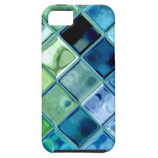 Ocean Teal Glass Mosaic Tile Art iPhone 5 Cover