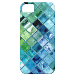 Ocean Teal Glass Mosaic Tile Art iPhone SE/5/5s Case