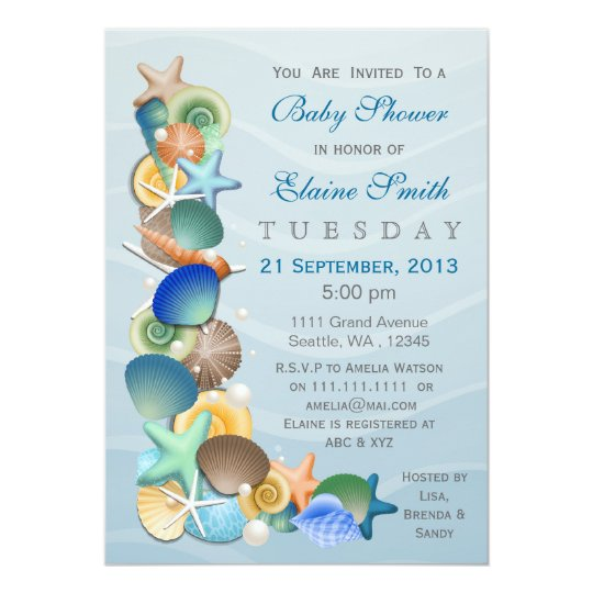 Ocean theme blue baby shower invites zazzle ocean theme blue baby shower invites filmwisefo