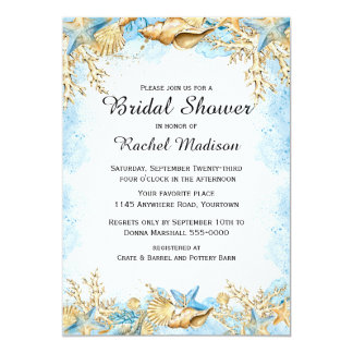 Ocean Theme Bridal Shower Card