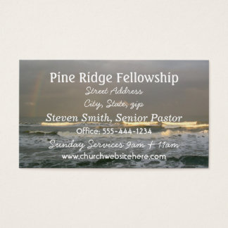 Ocean Theme Business Card, White Text Business Card
