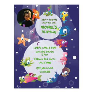 Ocean Theme Children's Birthday Party Invitation