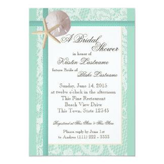 Ocean Theme Sea Foam Green Wedding Shower Card