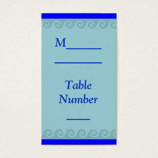 Ocean theme wedding placecards business card