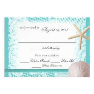 Ocean Theme Wedding Response Custom Invitations