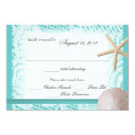 "Ocean Theme Wedding Response 3.5"" X 5"" Invitation Card"