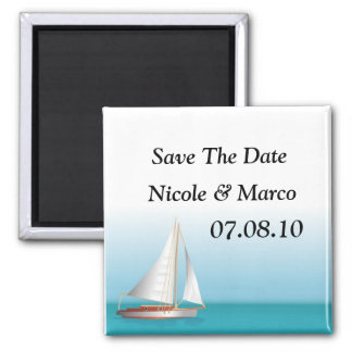Ocean Theme Wedding Save The Date Magnets