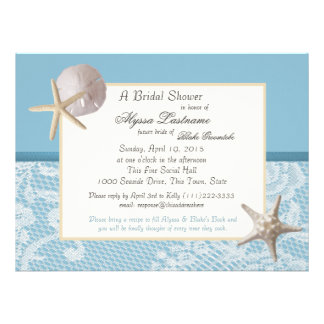 Ocean Theme Wedding Shower Announcements
