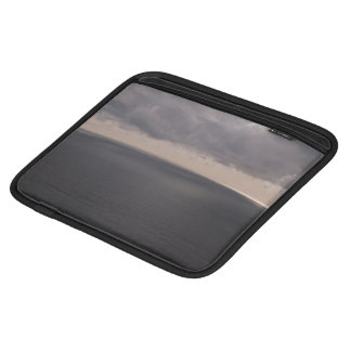Ocean Themed, A View Of A Calm Ocean With Grey Wat iPad Sleeves