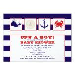 "Ocean Themed Baby Shower Invitation 5"" X 7"" Invitation Card"
