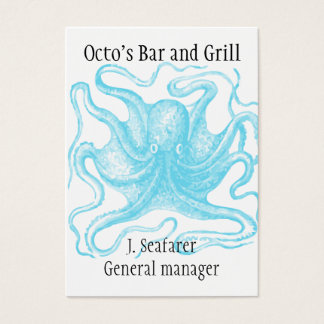 Ocean themed business card