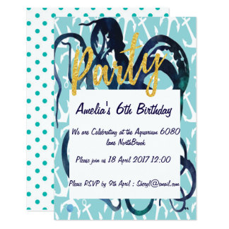 Ocean Themed PARTY Invite