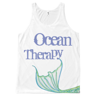 Ocean Therapy by Mostly Mermaid Designs- Fun Gift All-Over-Print Tank Top