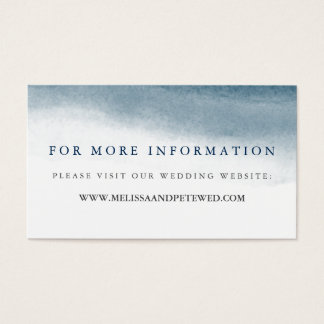 Ocean Tides Wedding Website Cards