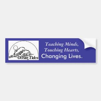 OCEAN, Touching Hearts,, Changing Lives., Teach... Bumper Sticker