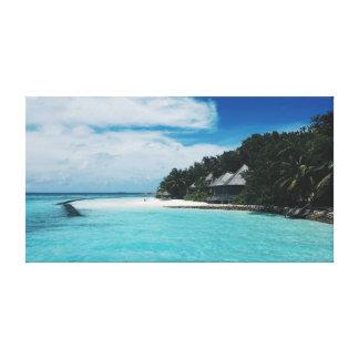 Ocean | Tropics | Sea | Palm trees Canvas Print