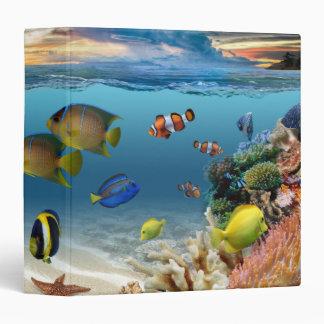 Ocean Underwater Coral Reef Tropical Fish Binder