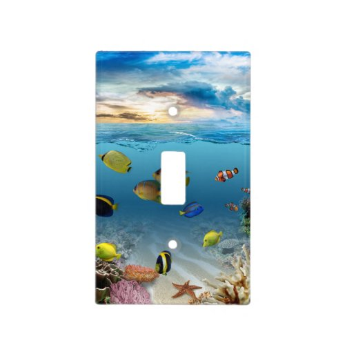 Ocean Underwater Coral Reef Tropical Fish Light Switch Cover