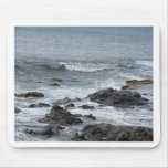 Ocean view and rocks mouse pad