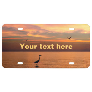 Ocean View at Sunset License Plate