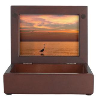 Ocean View at Sunset Keepsake Boxes