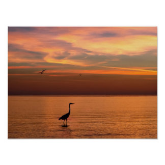 Ocean View at Sunset Poster