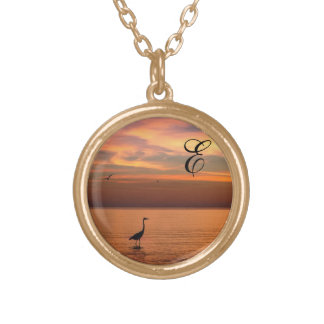 Ocean View at Sunset with Monogram Pendants