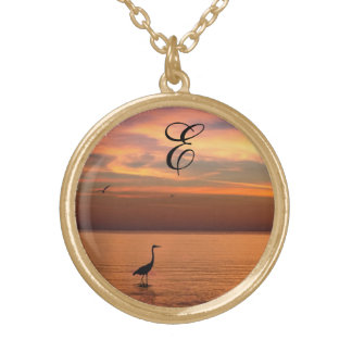 Ocean View at Sunset with Monogram Jewelry