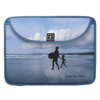 Ocean View Best Dad Collage MacBook Pro Sleeve