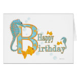 Ocean View Birthday Card Template