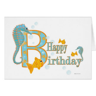 Ocean View Birthday Card Template