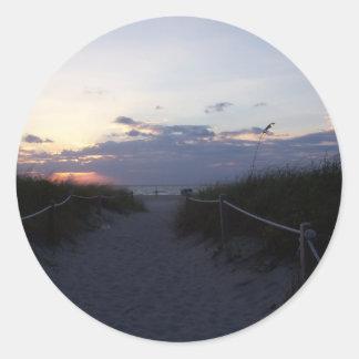 Ocean view classic round sticker