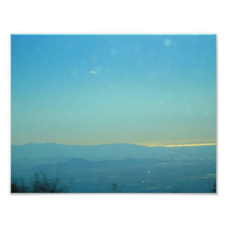 Ocean View From The Rim of the World Highway Poster