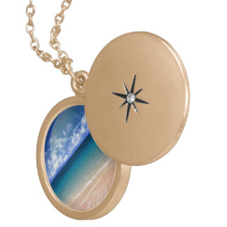 Ocean View Gold Plated Necklace