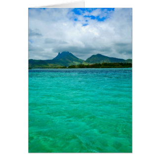Ocean view in Mauritius Card