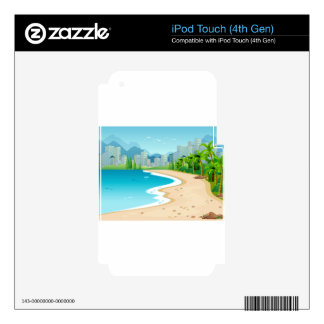 Ocean view iPod touch 4G skins