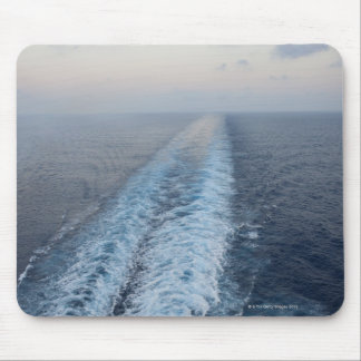 Ocean view of wake from the rear of a cruise mouse pad