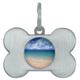 Ocean View Pet Name Tag